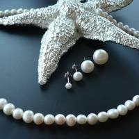 Echtes Perlenarmband mit Echt Silber Herz-Verschluss,Traumhaft schönes Perlenarmband mit Silber Herz,Perlenarmband Hochz Bild 9