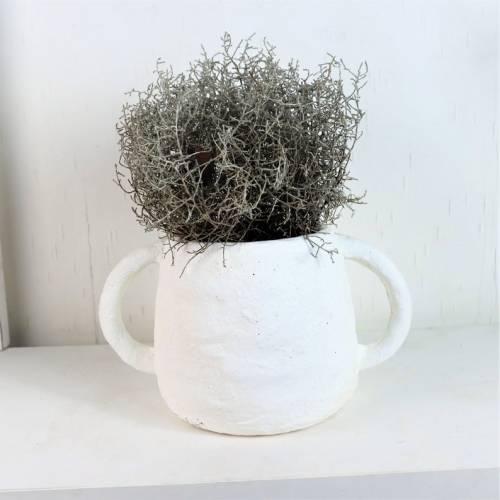 Keramik Übertopf, Blumentopf, Pflanztopf, edel, grau braun, groß, Floristikdeko