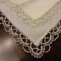 Vintage - Spitzentaschentuch - Damentaschentuch - Echt Klöppelspitze Bild 1
