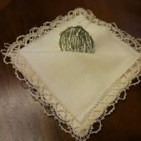 Vintage - Spitzentaschentuch - Damentaschentuch - Echt Klöppelspitze Bild 2