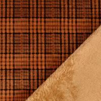 Cord mit Fellabseite Karo rost/camel (1m/13,-€) Bild 1