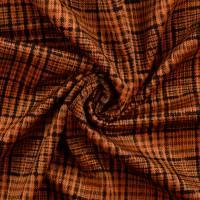 Cord mit Fellabseite Karo rost/camel (1m/13,-€) Bild 2