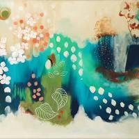 """Blütenwirbel"" 60 x 80 cm Acrylbild  Bild 1"