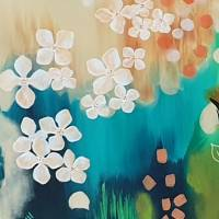 """Blütenwirbel"" 60 x 80 cm Acrylbild  Bild 2"