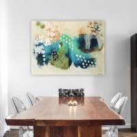 """Blütenwirbel"" 60 x 80 cm Acrylbild  Bild 3"