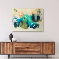 """Blütenwirbel"" 60 x 80 cm Acrylbild  Bild 4"