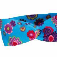 Turban Stirnbänder / Knotenhaarband Blumen Kopfumfang 50/54 cm Bild 1