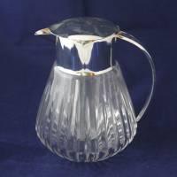 alte Glaskaraffe mit Glaseinsatz Kalte Ente 60er Jahre Bild 2