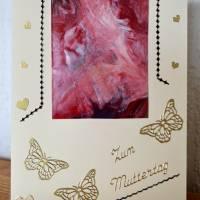 Zum Muttertag – bezaubernde Karte mit einem kleinen Kunstwerk – Design  Ulrike Kröll Bild 1