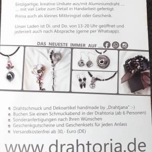 DRAHTORIA Kette für den Mann  Lavaperlen und Hämatit Perlen Edelstahl Perlenkette Edelstein Männer Herren unisex Bild 6