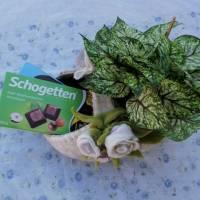 Filzkörbchen-Geschenkekorb mit Filzrosen Bild 5