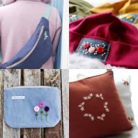 Kombi eBook - Handbesticktes Halstuch mit Blumen und Regenbogen - Schritt-für-Schritt zur ersten Stickerei Stickvorlage  Bild 3