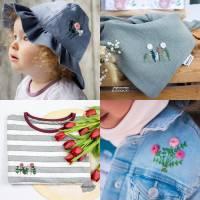 Kombi eBook - Handbesticktes Halstuch mit Blumen und Regenbogen - Schritt-für-Schritt zur ersten Stickerei Stickvorlage  Bild 4