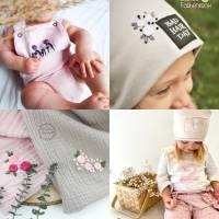 Kombi eBook - Handbesticktes Halstuch mit Blumen und Regenbogen - Schritt-für-Schritt zur ersten Stickerei Stickvorlage  Bild 8