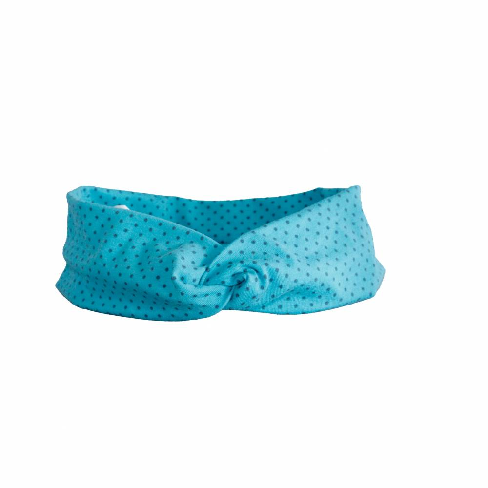 Turban Stirnbänder / Knotenhaarband Dots Kopfumfang 56 cm Bild 1
