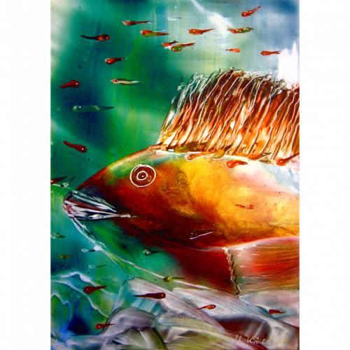 "Kunst–Postkarte - ""Fischkinder"""