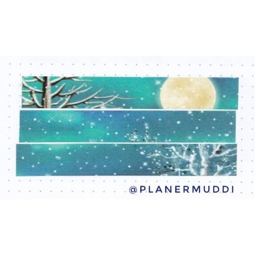 Washi-Sample Winterabend Bild 1