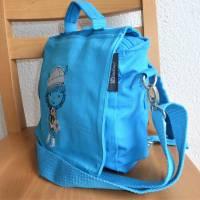 Kindertasche, Kinderrucksack, türkis, bestickt mit Wickinger, Umhängetasche, Kindergartentasche, Dieda Bild 2
