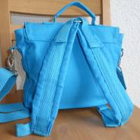 Kindertasche, Kinderrucksack, türkis, bestickt mit Wickinger, Umhängetasche, Kindergartentasche, Dieda Bild 3