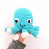 Spieluhr gehäkelt, Octopus, Pink, Melodieauswahl, Wasserdicht, 100 % Baumwolle, Geschenk für Taufe, Weihnachten Bild 4
