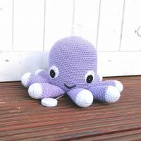 Spieluhr gehäkelt, Octopus, Pink, Melodieauswahl, Wasserdicht, 100 % Baumwolle, Geschenk für Taufe, Weihnachten Bild 5