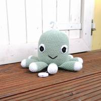 Spieluhr gehäkelt, Octopus, Pink, Melodieauswahl, Wasserdicht, 100 % Baumwolle, Geschenk für Taufe, Weihnachten Bild 6