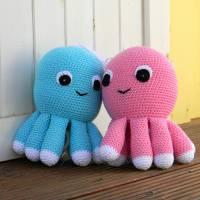 Spieluhr gehäkelt, Octopus, Pink, Melodieauswahl, Wasserdicht, 100 % Baumwolle, Geschenk für Taufe, Weihnachten Bild 9