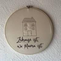 Stickrahmen  Wanddekoration  Skandinavisch wohnen  Türkranz  Namensschild   Willkommen Bild 3