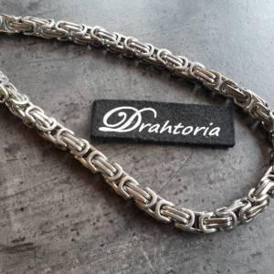 DRAHTORIA Massive Königskette 50 cm Kette aus Edelstahl silberfarben 8 mm Kette für Männer Armband  Bild 1