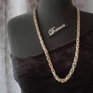 DRAHTORIA Massive Königskette 50 cm Kette aus Edelstahl silberfarben 8 mm Kette für Männer Armband  Bild 2