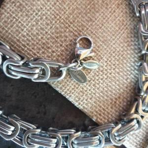 DRAHTORIA Massive Königskette 50 cm Kette aus Edelstahl silberfarben 8 mm Kette für Männer Armband  Bild 3