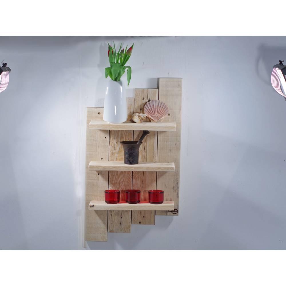 Wandregal aus Palette, Wohndeko, Wandschmuck, Palettenmöbel, einzigartig, Holz, Wohndeko, Holzregal, Palettenholz Regal, Bild 1