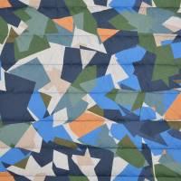 Steppstoff Stepper grafisches Muster bunt wattiert (1m/10,-€)  Bild 3