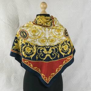 Damentuch, Kopftuch, Vintage Halstuch, Tuch aus Polyester für Damen, traditionelles Motiv, Tuch, das waschbar ist Bild 1