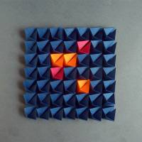 Light and shadow // Origami-Wandbild im Objektrahmen Bild 3