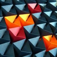 Light and shadow // Origami-Wandbild im Objektrahmen Bild 4