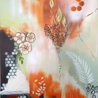"""Erwachende Blumen"" 60 x 80 cm Acrylbild  Bild 1"