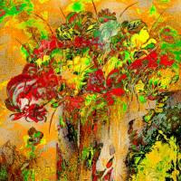 Blumen selbst gepflückt  - Digital-ART - Kunstwerk 1/10 – Design  Ulrike Kröll Bild 1