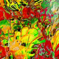 Blumen selbst gepflückt  - Digital-ART - Kunstwerk 1/10 – Design  Ulrike Kröll Bild 2