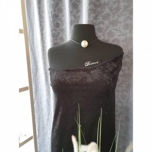 DRAHTORIA Tolle Statement Kette mit Riesen-Perle 3 cm am 3 mm Kautschukband mit Karabinerverschluss