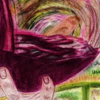 Portugiesischer Rotwein - Original Pastellkreidemalerei, gerahmt Bild 4