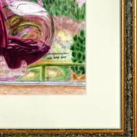 Portugiesischer Rotwein - Original Pastellkreidemalerei, gerahmt Bild 5