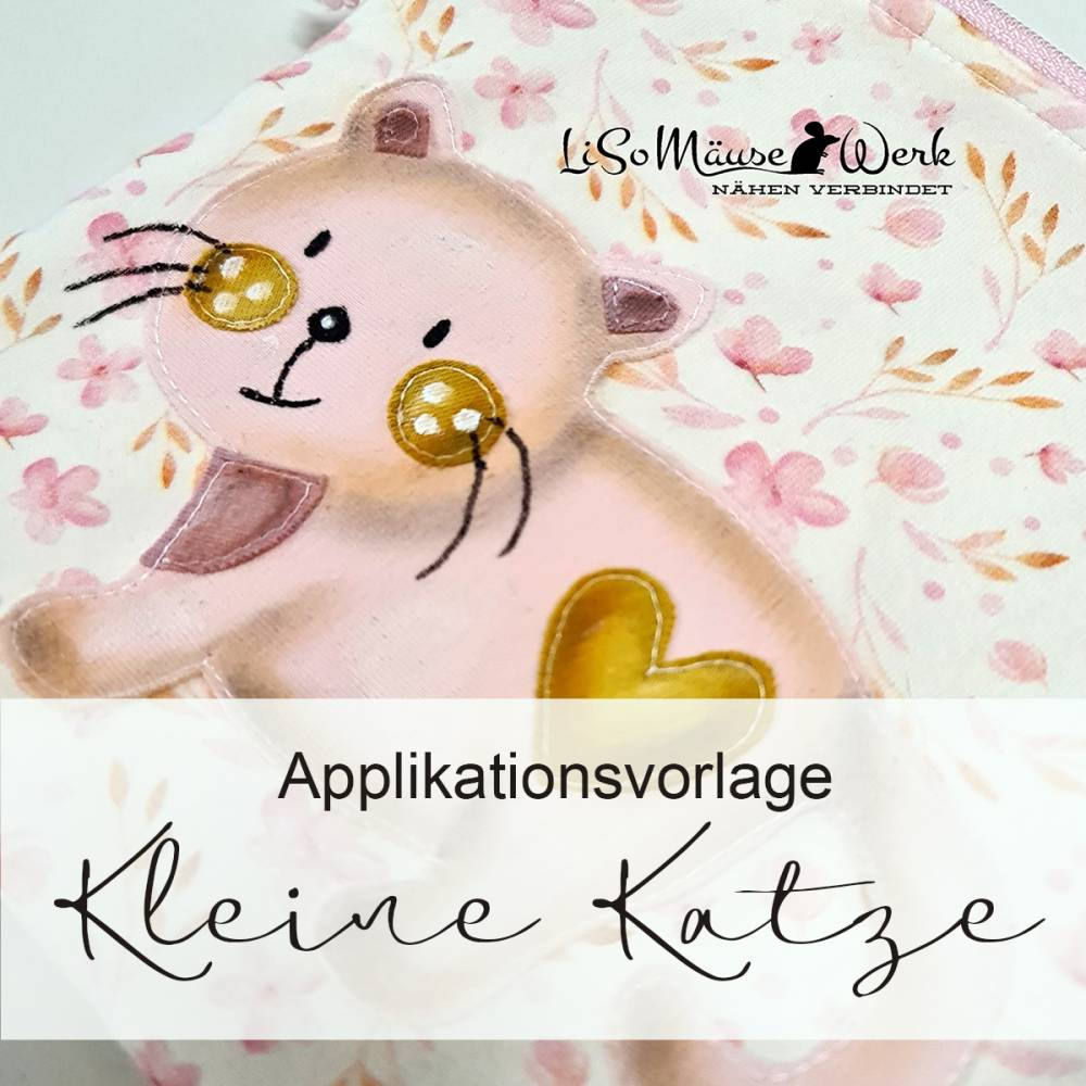 Applikationsvorlage KLEINE KATZE Bild 1