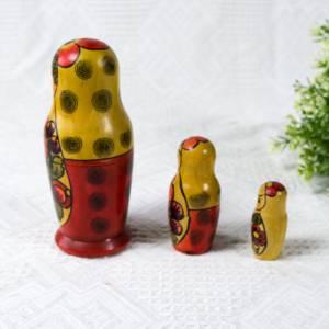 Matroschka, Matruschka, Matrjoschka, Babuschka, 3 teilig, Russische Puppe, alt, Vintage Bild 6