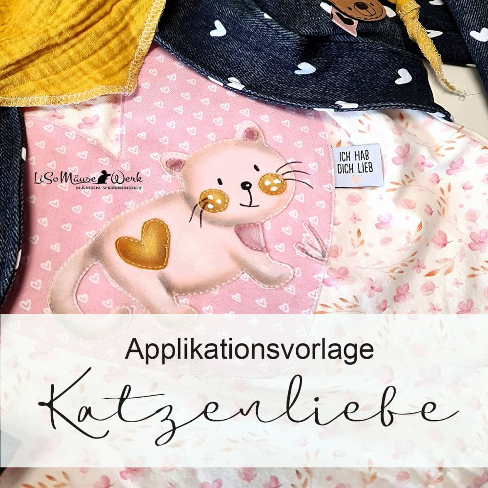 Applikationsvorlage KATZENLIEBE Bild 1
