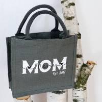 Jutetasche MOM Kindername personalisiert Muttertagsgeschenk Bild 2