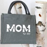 Jutetasche MOM Kindername personalisiert Muttertagsgeschenk Bild 3
