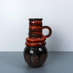 Vase Scheurich, Blumenvase braun, orange, Fat Lava Glasur, Vintage, 1970er, Mid-Century Keramik, WGP,  Bodenmarke 428-26 Bild 1