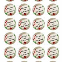 24 Sticker Etiketten Aufkleber, rund D= 4 cm  Alles Gute und bleib gesund Bild 2