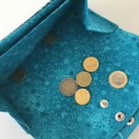 Geldbörse Geldtasche Geldbeutel Kunstleder Paisely Ocean Kork Aqua Big Genius Bild 6